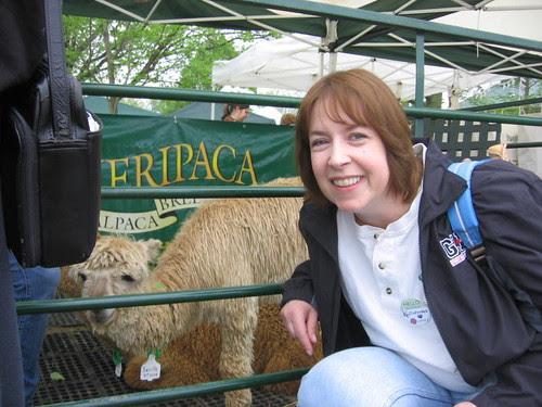 Nancy and alpaca