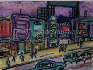 asian cityscape,asia,hong kong,tokyo,cityscape art,citscyapes,urban art,abstract art,modern art,miller modern art,modern decor,modern,decorative art,original painting,small format art,framed artwork,framed painting,landscape,impressionism,impressionistic,Urban Abstract Impressionism,urban decor