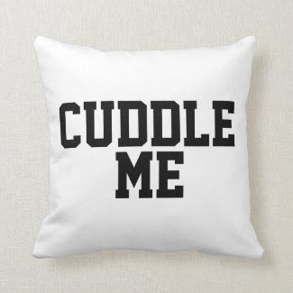 Flirty Cuddle Me Quote Throw Pillow