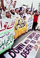 Demonstrators in Pakistan