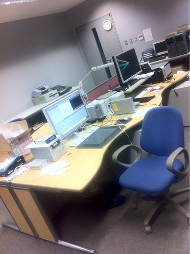 Editing lab at Honjo Art and Science center