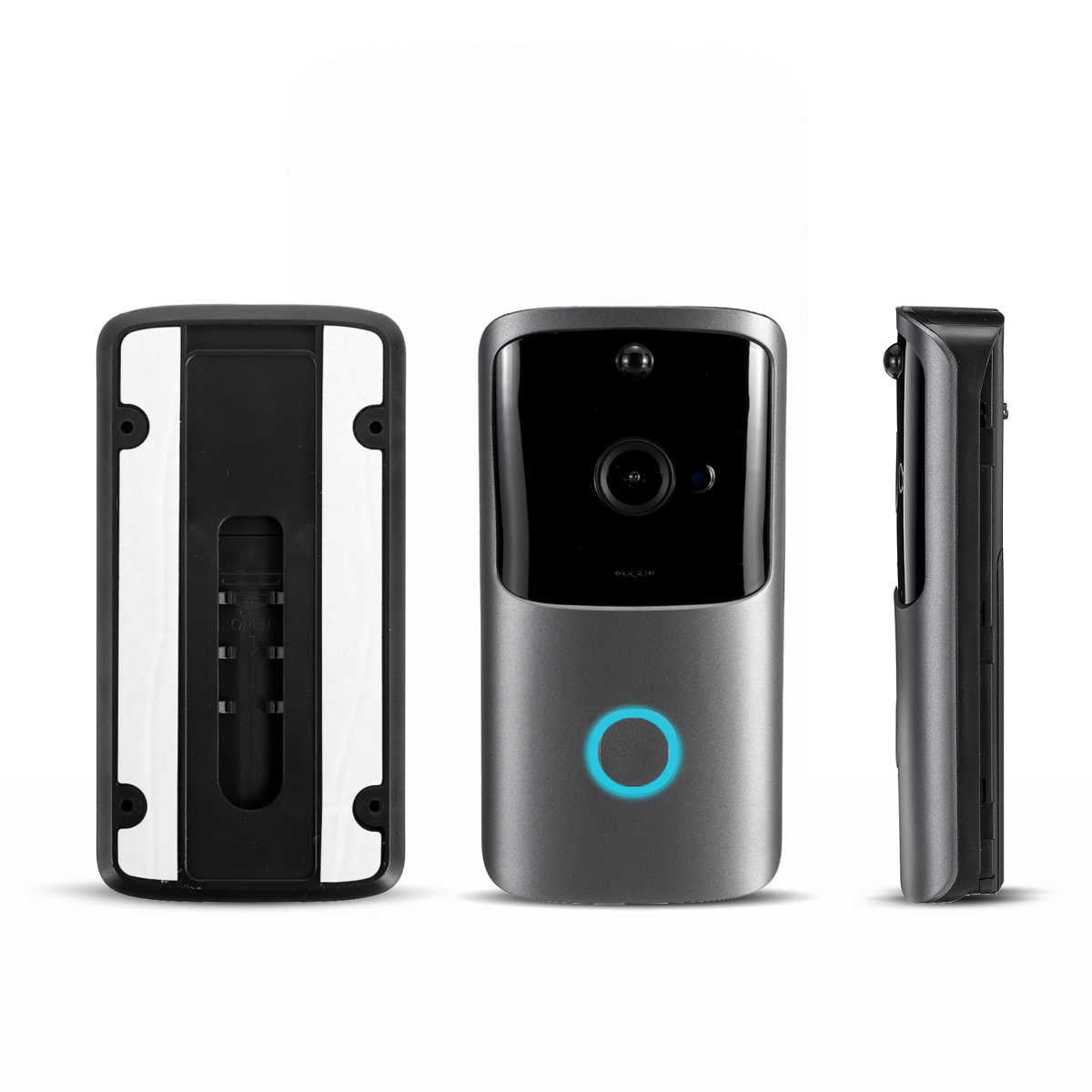 Smart WiFi Doorbell Camera Two-way Intercom with Android & iOS [incl. Night Vision] (Silver)