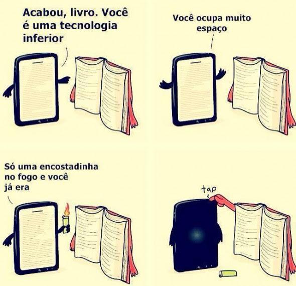 Livro vs tablet