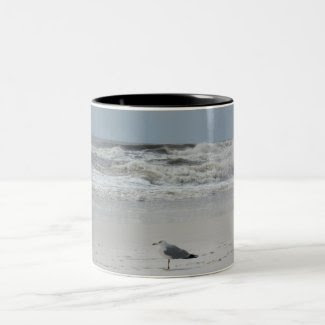 Seagull on the Beach Mugs