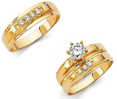14k Solid Yellow Italian Gold Wedding Band Bridal