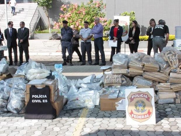 Droga apreendida na Grande Vitória é incinerada (Foto: Divulgação/ Polícia Federal)