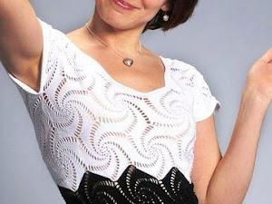 Elegante vestido a crochet