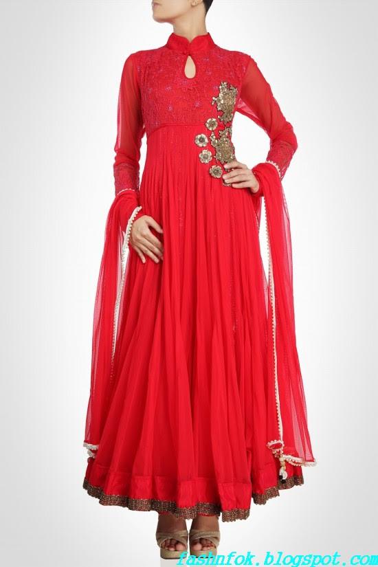 Anarkali-Gorgeous-Bridal- Wedding-Ankle-Length-Dress-by-Designer-Kiran-&-Shruti-Aksh-