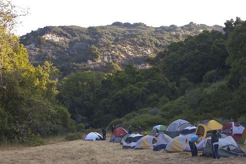 camping, mountains