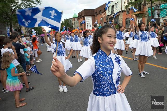 Une scène du défilé de la fête nationale... (PHOTO ROBERT SKINNER, ARCHIVES LA PRESSE)