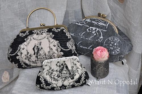 Småvesker og pung by Marits Kunstquilt