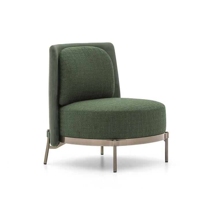Stilvolles Wohnzimmer-Sofa-gesetztes Gewebe-Band gebogene ...