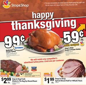 Stop & Shop Ad November 15 - November 21, 2013. Butterball Frozen Turkey
