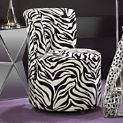Swivel Zebra Chair