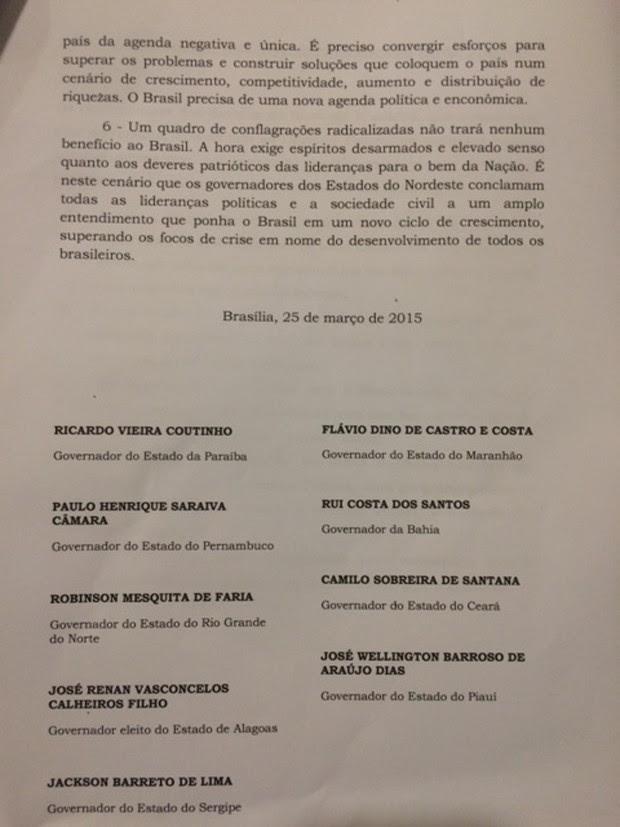 Carta governadores parte 3 (Foto: Reprodução)