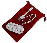 FC30シリーズ - 超小型のコントローラー 「Zero GamePad」(カラー:ホワイト&レッド) (サイズ約7.3cm x 3.5cm) (Android/iOS/Windows/Mac OS用) レトロゲームコントローラ ワイヤレスブルートゥースゲームパッド Wireless Bluetooth Gamepad Dianziオリジナルバージョン[CXD0978] [並行輸入品]