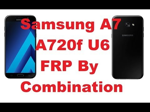 samsung A7 A720f (U6) Frp By Pass With combination Done