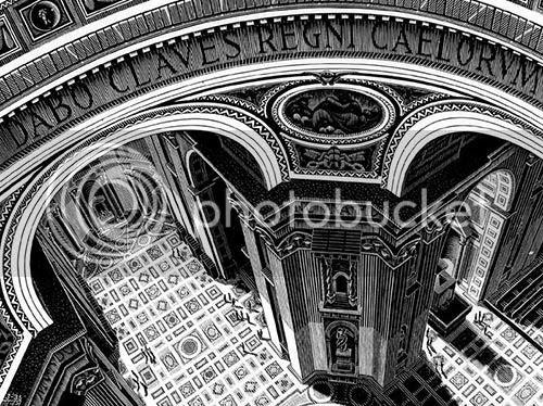 Escher - São Pedro, Roma - Perspectiva Aérea