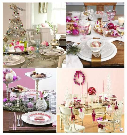Ideas For Christmas Table Decoration Wedding And Decoration