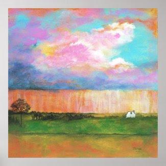 April Showers Original Painting Large Art Print
