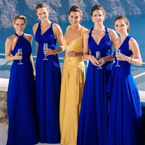Temperament Bridesmaid long sister group dress 2019 bride