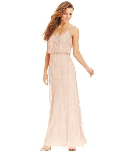 $299  not sure the color Adrianna Papell Illusion Beaded
