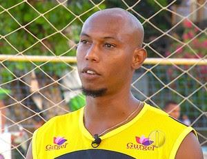 Flávio Boaventura - zagueiro do América-RN (Foto: Reprodução/Inter TV Cabugi)