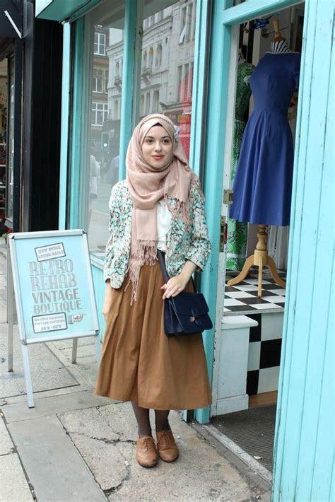 menuju cantik  trik padu padan hijab baju vintage