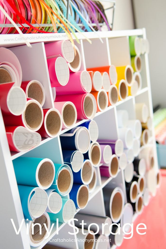Whether you have a large stash or small, get your vinyl organized with these fabulous ideas!