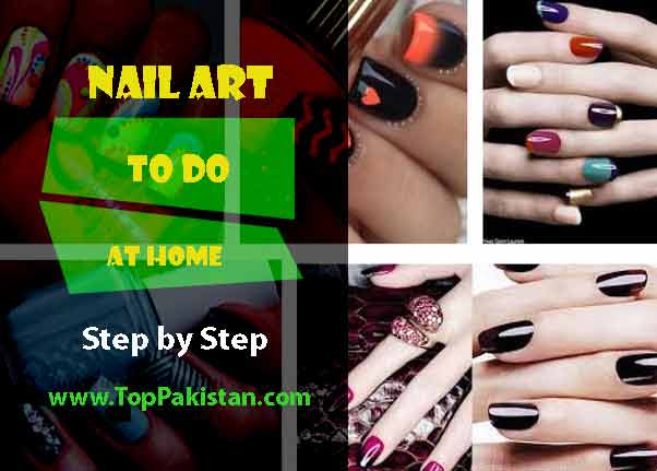 How To Do Nail Art At Home Step by Step | Nail Art Step By ...