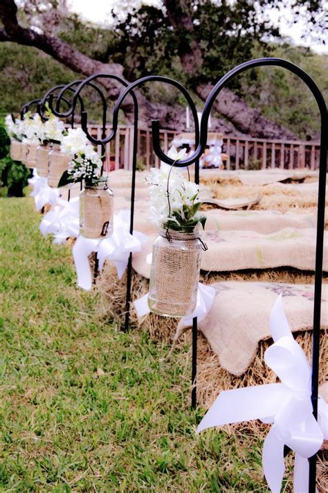 My Wedding Aisle. Home made Sheppards hooks and homemade