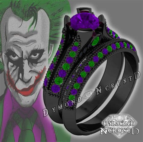 joker batman dark knight inspired amethyst swarovski
