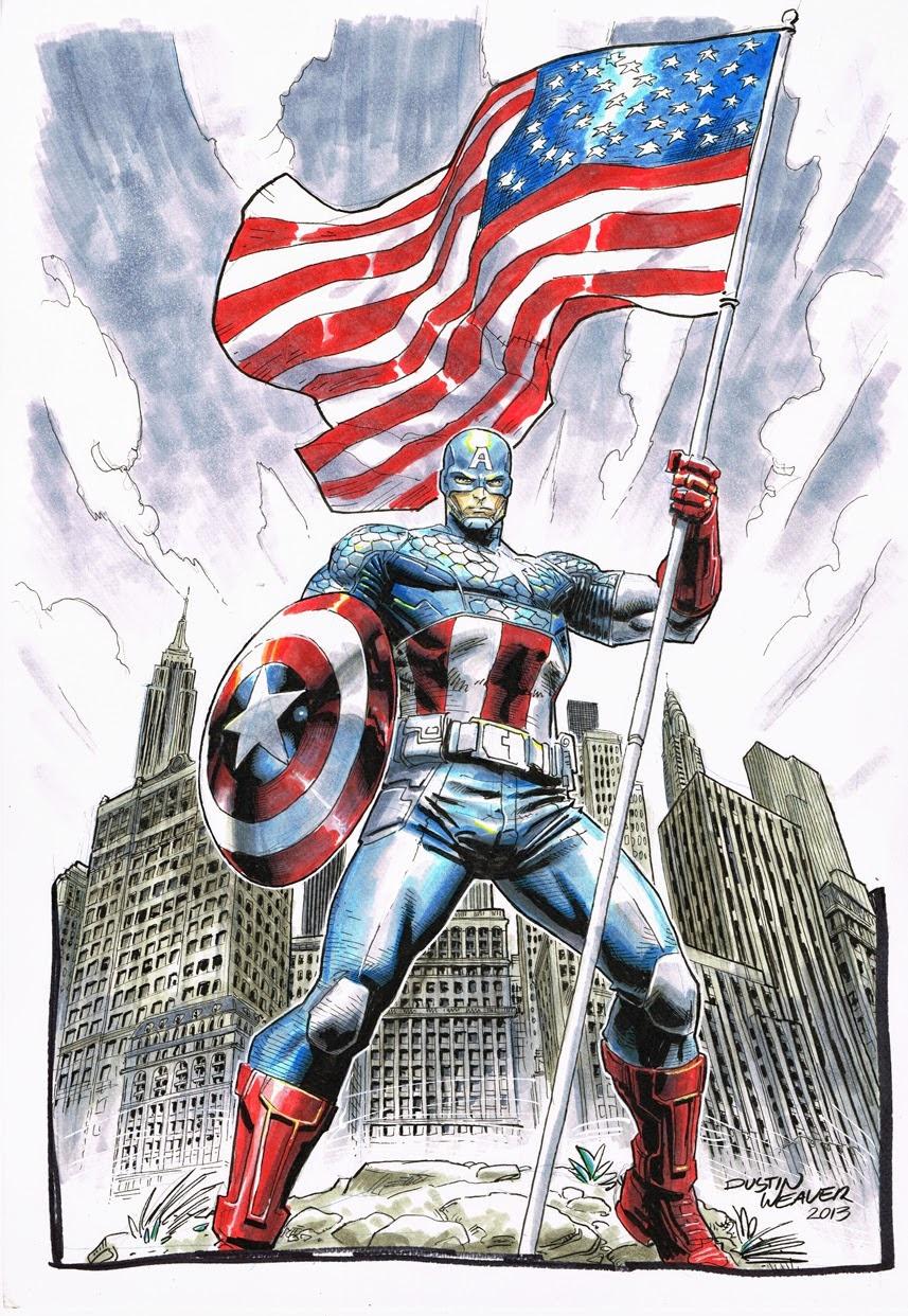 Captain America byDustin Weaver