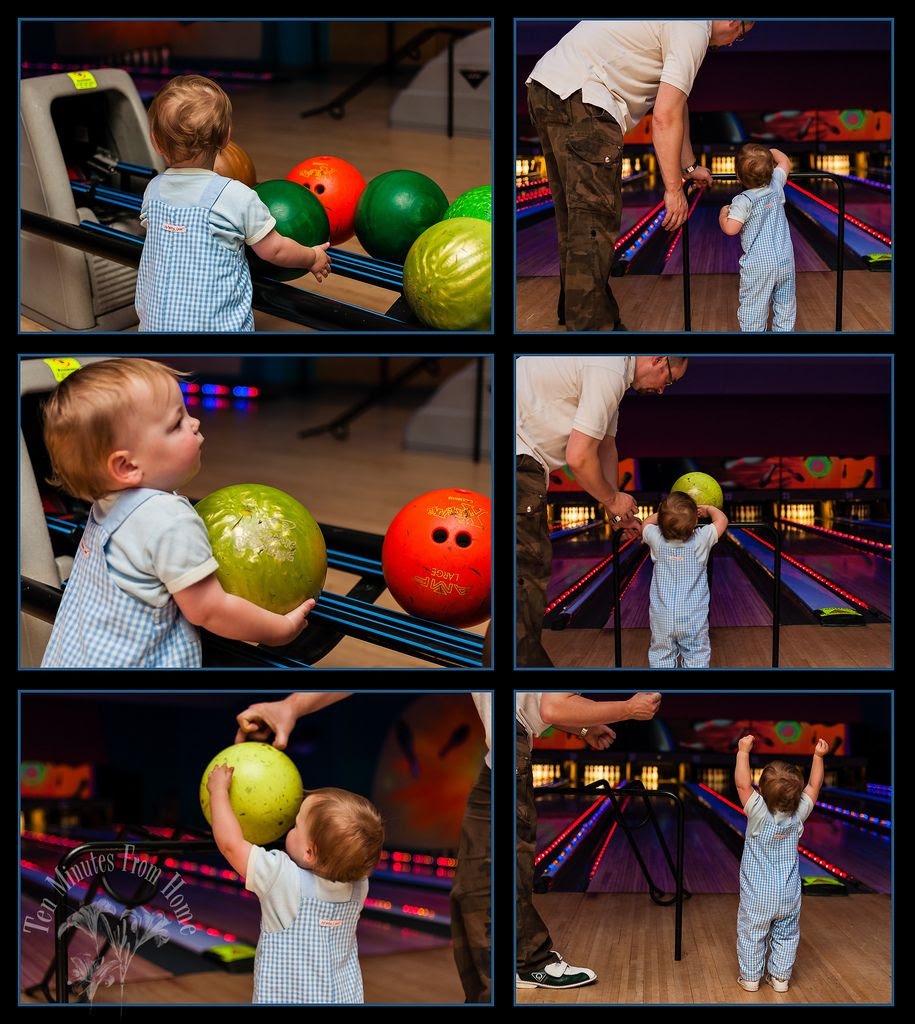 Whenever!, We took the small boys bowling while the big kids were away ~ baby's first time :D