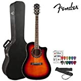 Fender T-Bucket 300CE Flame Maple Top (096-8079-000) Dreadnought Acoustic-Electric Guitar Kit with Hard Case,...