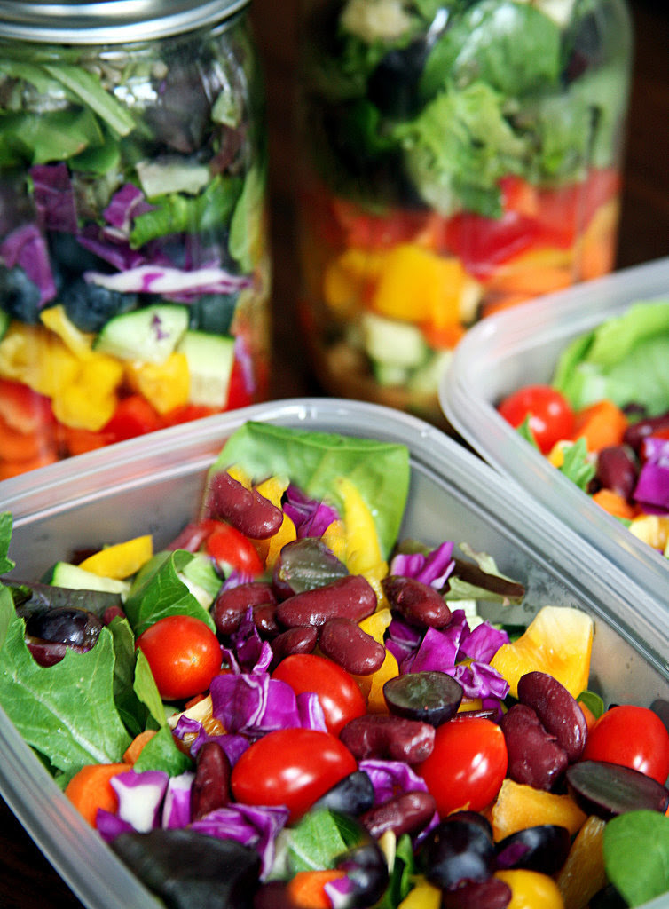 Eating a large salad at to the lowest degree i time a twenty-four hours is a bang-up agency to hold good for you lot habits How to Pack a Week of Salads That Stay Fresh Till Friday