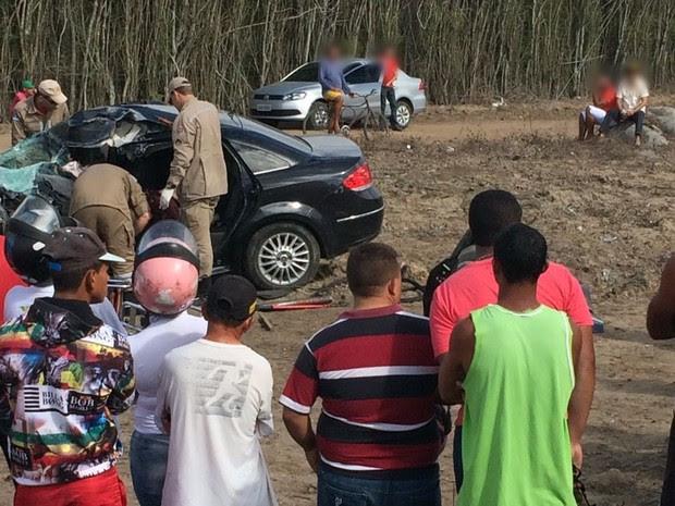Acidente aconteceu na BR-423, em Cachoeirinha, diz PRF (Foto: Roprodução/WhatsApp)