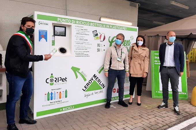 Italia: gli ecocompattatori per riciclare bottiglie di plastica