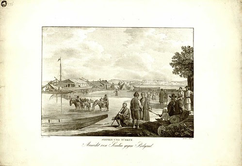 Pogled sa Zemuna na Beograd. Jacob Alt - umetnik, Adolf Kunike - stampar. 1826 (Syrimen und Turkey)