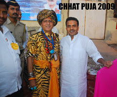 Mr Sanjay Nirupam and Me At Chhat Puja 2009 by firoze shakir photographerno1