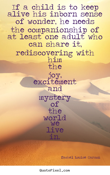 Life Quotes If A Child Is To Keep Alive His Inborn Sense Of Wonder