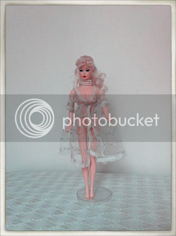 vintage Barbie lace robe lingerie