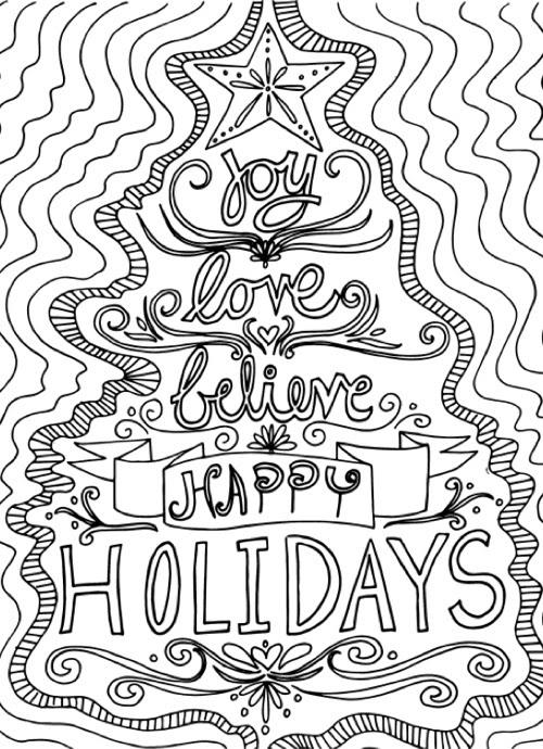 22+ Christmas Coloring Books to Set the Holiday Mood