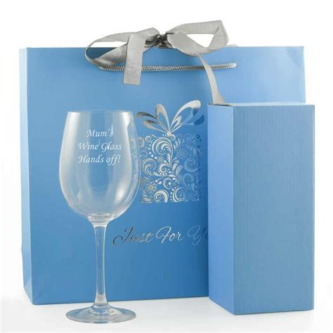 Personalised Wine Glass With Luxury Gift Bag And Box