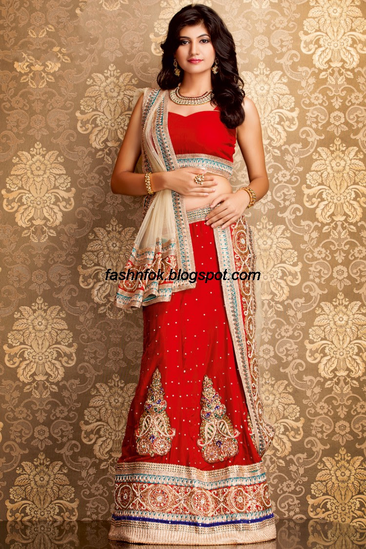 Bridal-Wedding-Wear-Sari-Lehenga-Choli-Latest-Brides-Outfit-for-Girls-Women-2013-2
