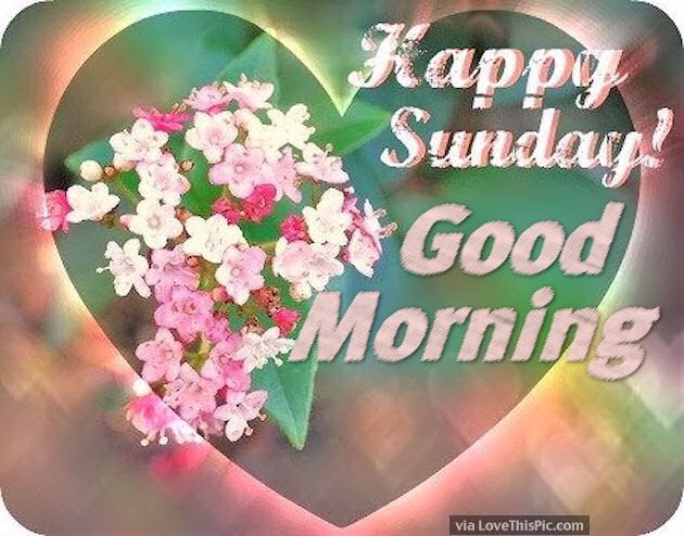 Happy Sunday Good Morning Flowers And Hearts Pictures Photos And