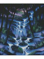 Purple Mist Falls Cross-Stitch Pattern