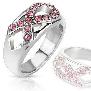 Pink Ribbon Sparkler   FINAL SALE Breast Cancer Awareness