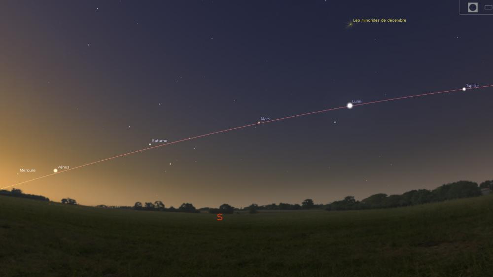 Vue simulée du ciel parisien le 30 janvier vers 8 heures du matin.