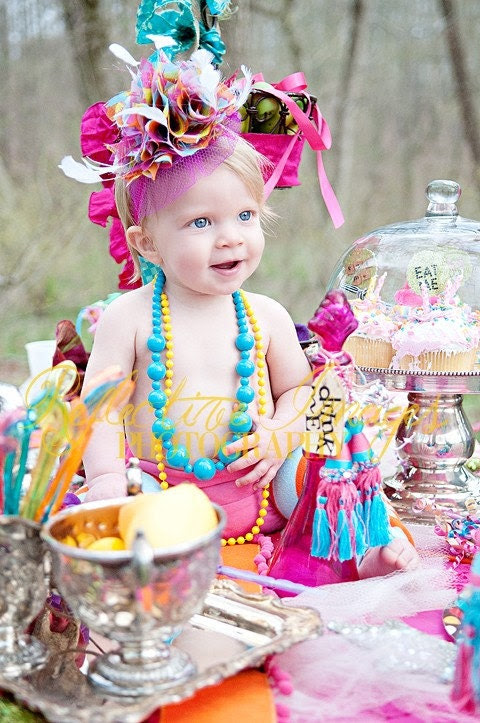 Featured in Child Style Magazine, Ooh La La Headpiece, hat, birthday hat, headband